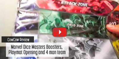 Marvel Dice Masters Boosters, Playmat Opening and 4 man team