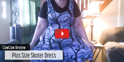 CowCow Review - Plus Size Skater Dress