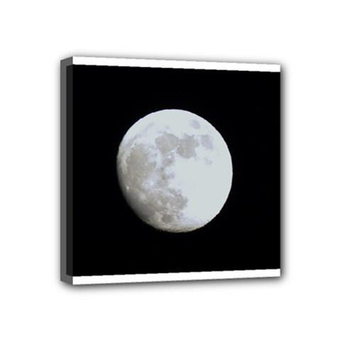 Moon 4  x 4  Framed Canvas Print