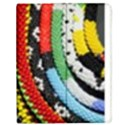 Multi-Colored Beaded Background Apple iPad 3/4 Flip Case View1