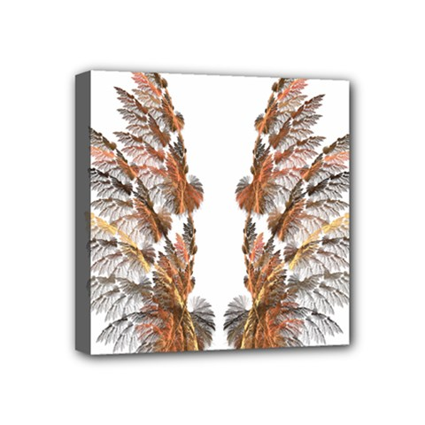 Brown Feather wing 4  x 4  Framed Canvas Print