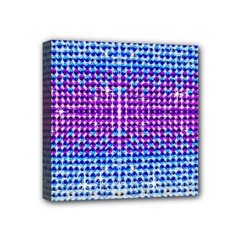 Rainbow Of Colors, Bling And Glitter 4  X 4  Framed Canvas Print
