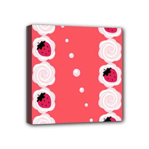 Cake Top Rose Mini Canvas 4  x 4  (Stretched)