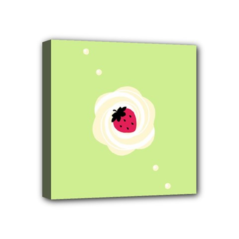 Cake Top Lime Mini Canvas 4  X 4  (stretched)