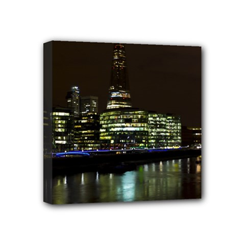 The Shard And Southbank London 4  X 4  Framed Canvas Print