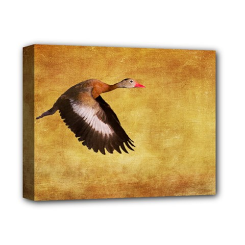 Whistling Duck Deluxe Canvas 14  X 11  (stretched)