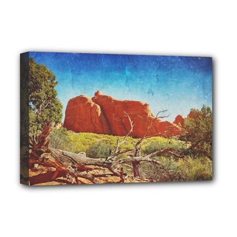 Moab, Utah Deluxe Canvas 18  x 12  (Stretched)