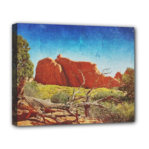 Moab, Utah Deluxe Canvas 20  X 16  (stretched)