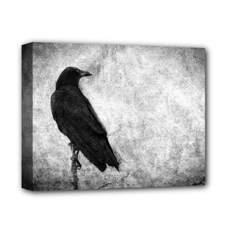 Black Crow Deluxe Canvas 14  X 11  (stretched)