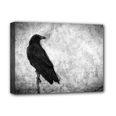 Black Crow Deluxe Canvas 16  x 12  (Stretched)