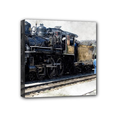 The Steam Train 4  X 4  Framed Canvas Print
