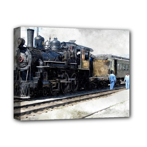 The Steam Train Deluxe Canvas 14  x 11  (Stretched)