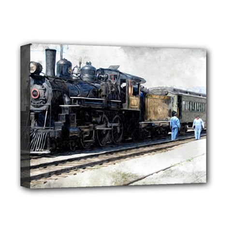 The Steam Train Deluxe Canvas 16  x 12  (Stretched)