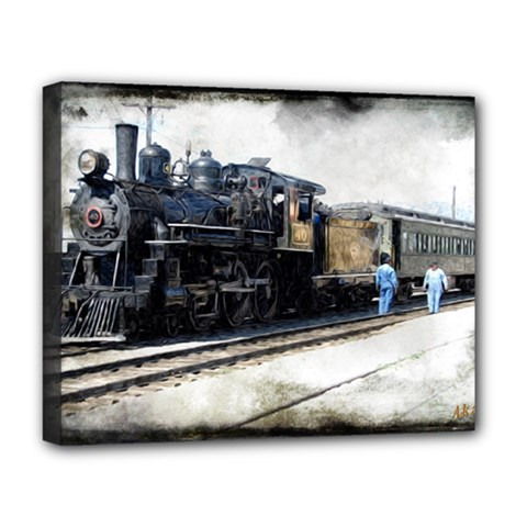 The Steam Train Deluxe Canvas 20  X 16  (stretched)