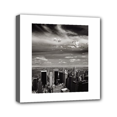 New York 6  X 6  Framed Canvas Print