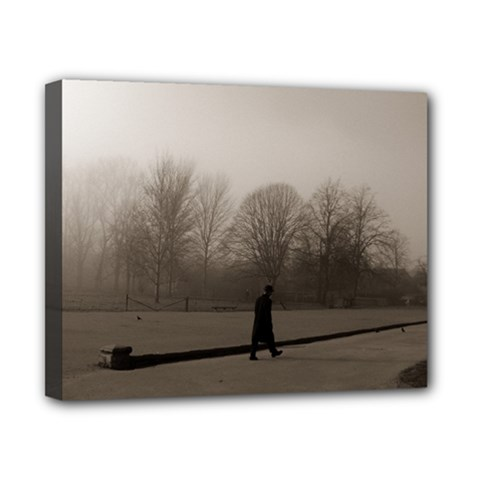 Foggy Morning, Oxford 8  X 10  Framed Canvas Print