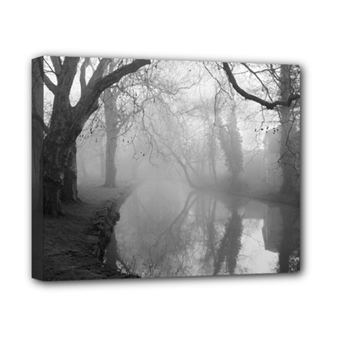 Foggy morning, Oxford 8  x 10  Framed Canvas Print