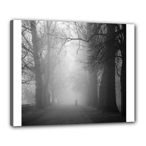 Foggy morning, Oxford 16  x 20  Framed Canvas Print