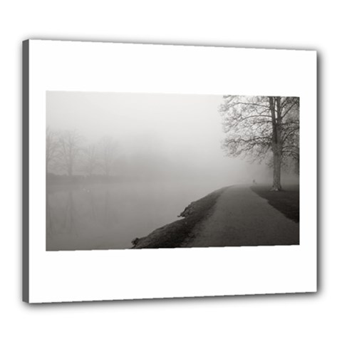 Foggy morning, Oxford 20  x 24  Framed Canvas Print