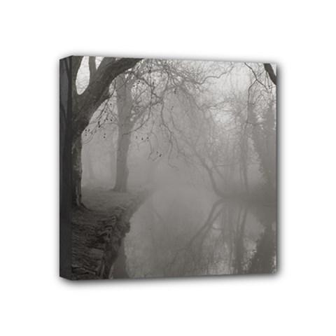 Foggy morning, Oxford 4  x 4  Framed Canvas Print