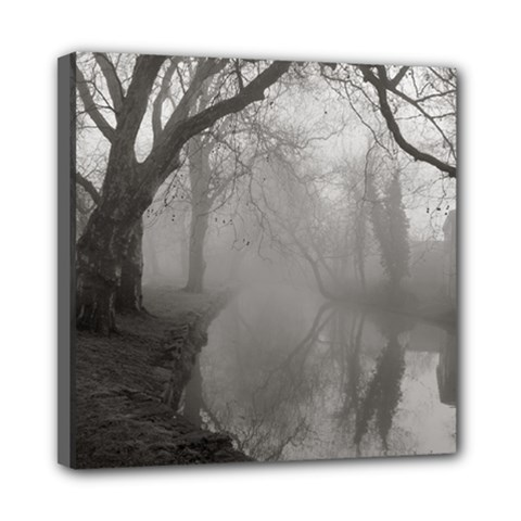 Foggy Morning, Oxford 8  X 8  Framed Canvas Print