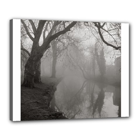 Foggy morning, Oxford 16  x 20  Framed Canvas Print