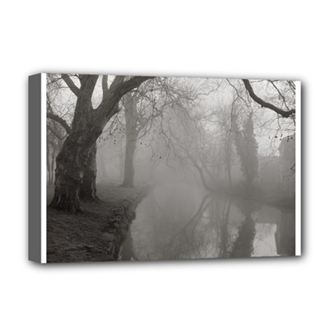 Foggy morning, Oxford Deluxe Canvas 18  x 12  (Stretched)