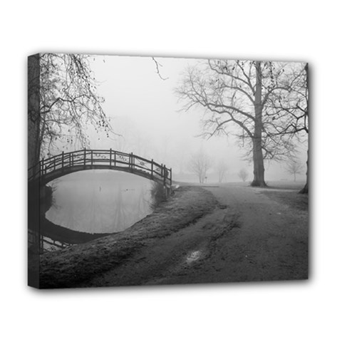Foggy Morning, Oxford Deluxe Canvas 20  X 16  (stretched)
