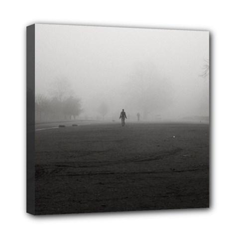 Foggy Morning, Oxford 8  X 8  Framed Canvas Print