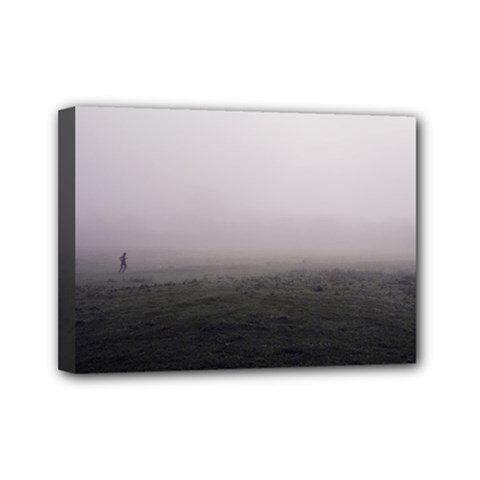 Foggy morning, Oxford 5  x 7  Framed Canvas Print
