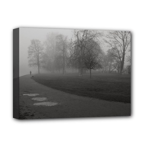 Foggy Morning, Oxford Deluxe Canvas 16  X 12  (stretched)