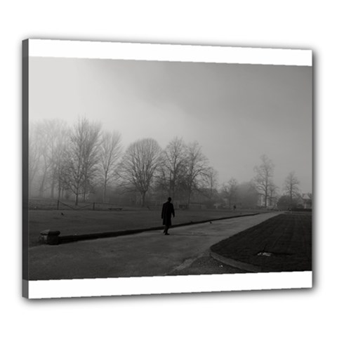 Foggy Morning, Oxford 20  X 24  Framed Canvas Print