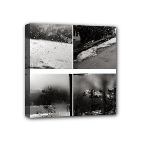 rainy day, Austria 4  x 4  Framed Canvas Print