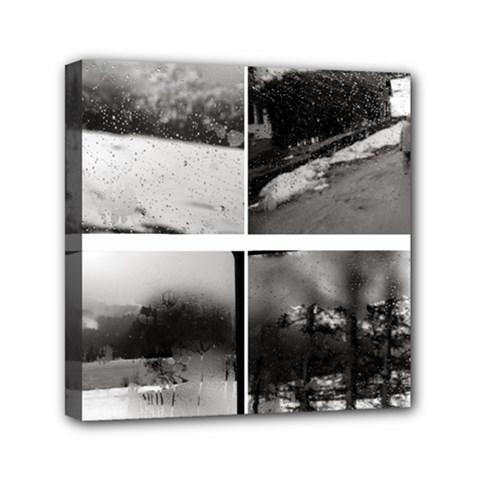 rainy day, Austria 6  x 6  Framed Canvas Print