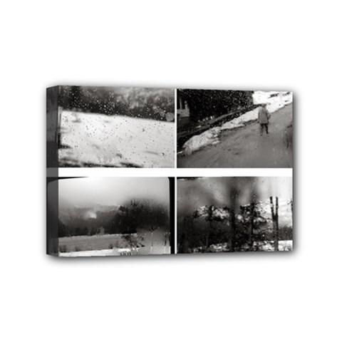 rainy day, Austria 4  x 6  Framed Canvas Print