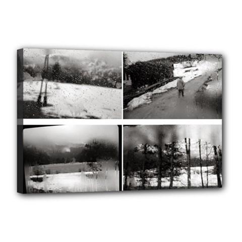 rainy day, Austria 12  x 18  Framed Canvas Print