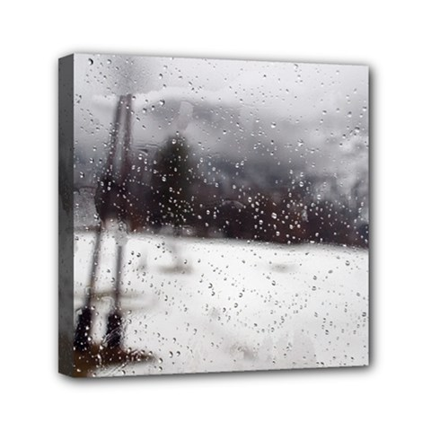 rainy day, Salzburg 6  x 6  Framed Canvas Print