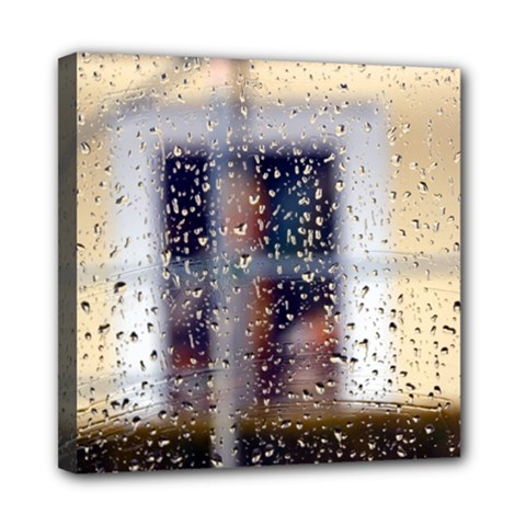 rainy day 8  x 8  Framed Canvas Print