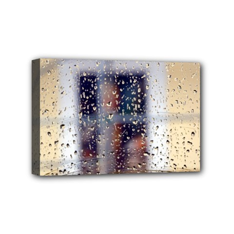 rainy day 4  x 6  Framed Canvas Print