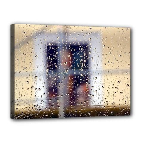 rainy day 12  x 16  Framed Canvas Print