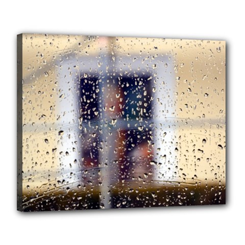rainy day 16  x 20  Framed Canvas Print