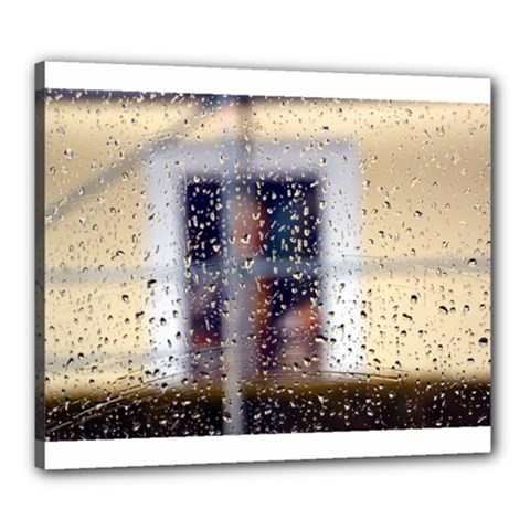 rainy day 20  x 24  Framed Canvas Print