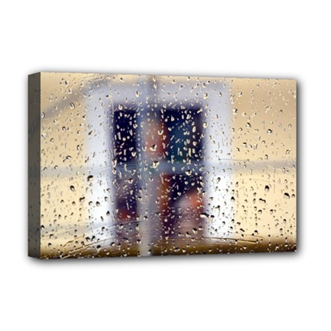 rainy day Deluxe Canvas 18  x 12  (Stretched)