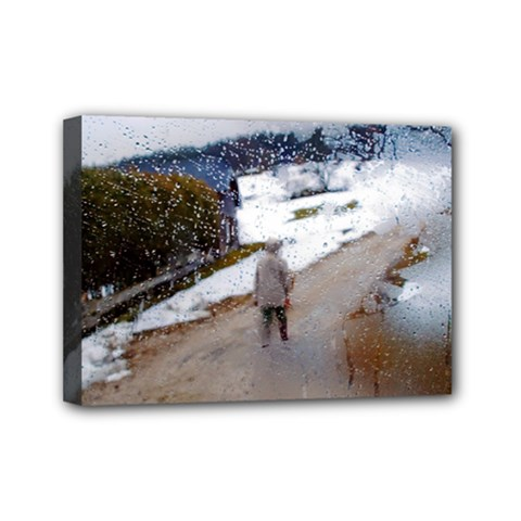 Rainy Day, Austria 5  X 7  Framed Canvas Print