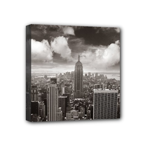 New York, Usa 4  X 4  Framed Canvas Print