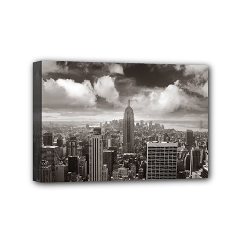 New York, Usa 4  X 6  Framed Canvas Print