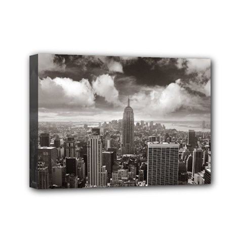 New York, USA 5  x 7  Framed Canvas Print