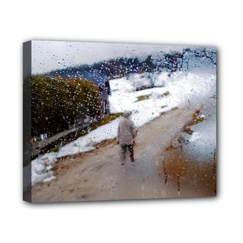 rainy day, Salzburg 8  x 10  Framed Canvas Print
