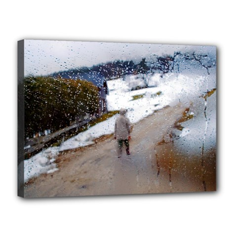 rainy day, Salzburg 12  x 16  Framed Canvas Print