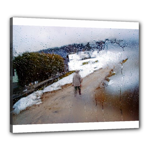 Rainy Day, Salzburg 20  X 24  Framed Canvas Print